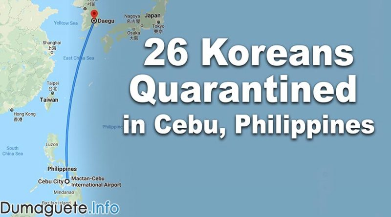 26 Koreans Quarantined in Cebu, Philippines