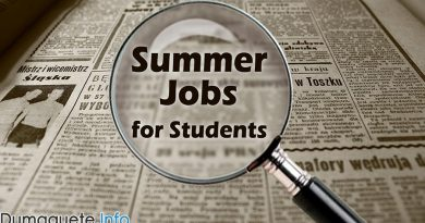 300 Summer Jobs for Students in Dumaguete