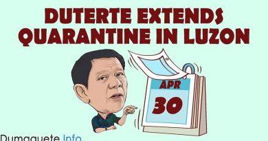 Duterte extends quarantine in Luzon until April 30
