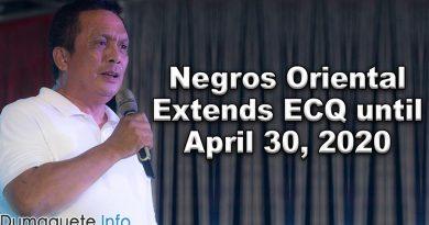 Negros Oriental Extends ECQ until April 30, 2020