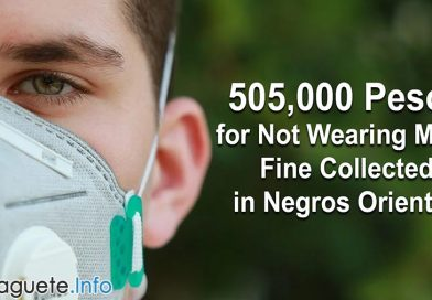 505,000 Pesos for Not Wearing Mask Fine Collected in Negros Oriental