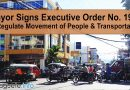 Mayor Signs Executive Order No. 19-C to Regulate Movement of People and Transportation