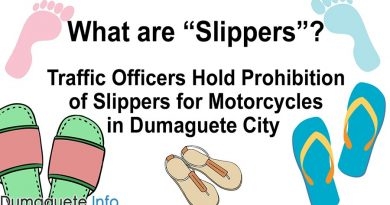 """What are """"Slippers""""? – Traffic Officers Hold Prohibition of Slippers for Motorcycles in Dumaguete City"""