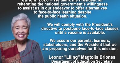 DepEd Secretary Postpones Face-to-Face classes until Vaccine is Available