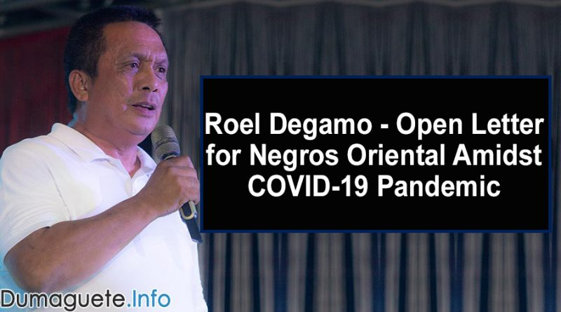 Roel Degamo - Open Letter for Negros Oriental Amidst COVID-19 Pandemic