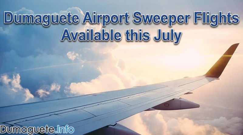 Dumaguete Airport Sweeper Flights Available this July