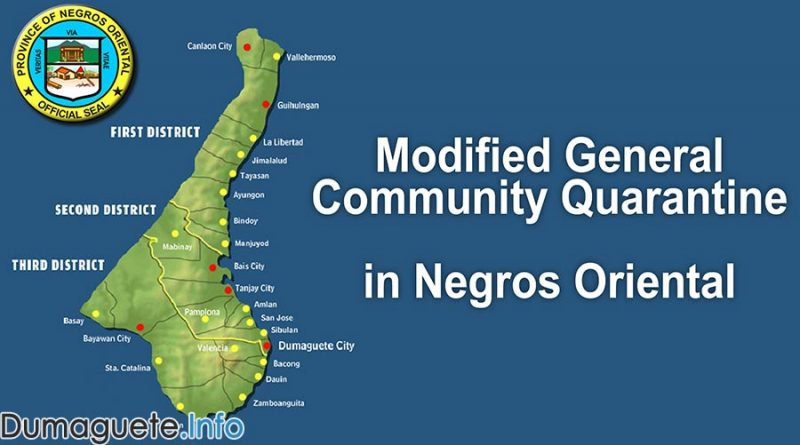 Negros Oriental Downgraded to Modified General Community Quarantine