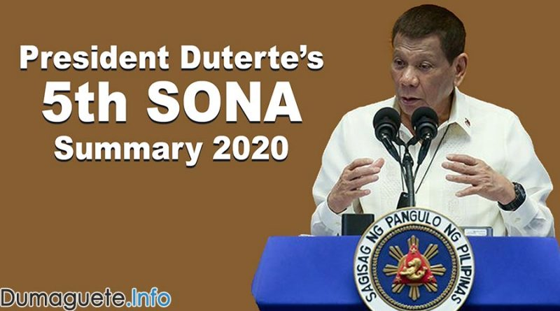President Duterte's 5th SONA Summary 2020