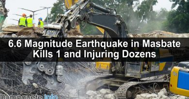 6.6 Magnitude Earthquake in Masbate Kills 1 and Injuring Dozens