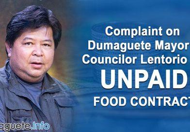 Complaint on Dumaguete Mayor & Councilor Lentorio for Unpaid Food Contract