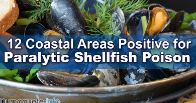 12 Coastal Areas Positive for Paralytic Shellfish Poison in the Philippines