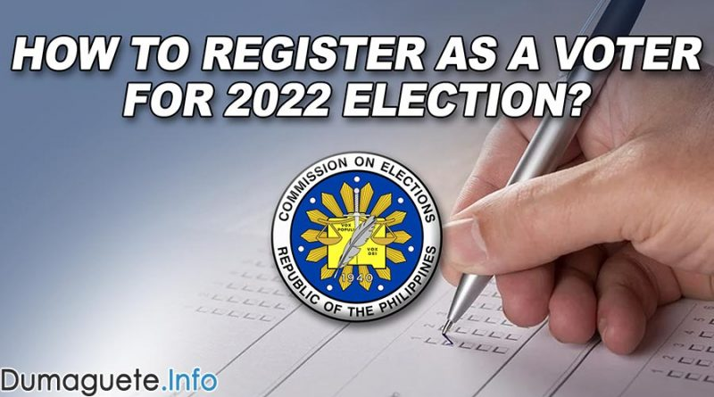 How to Register as a Voter for 2022 Election