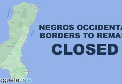 Negros Occidental Borders to Remain Closed