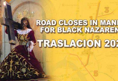 Road Closes in Manila for Black Nazarene Traslacion 2021
