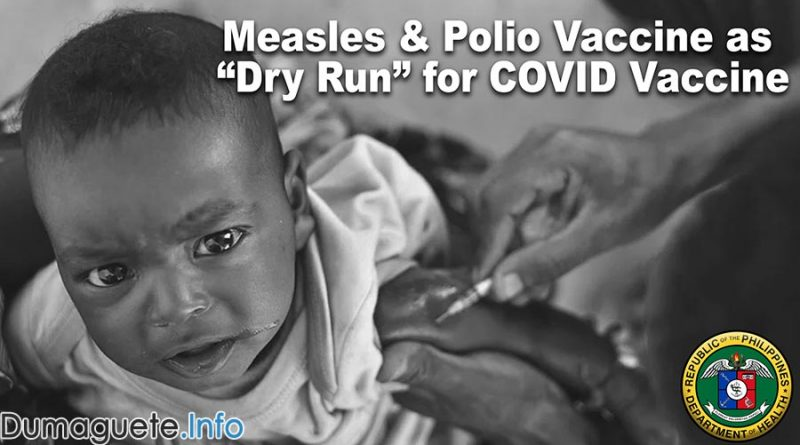 "Measles & Polio Vaccine to be Used as ""Dry Run"" for COVID Vaccination Rollout"