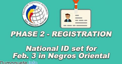 Phase 2 - Registration of National ID set for Feb. 3 in Negros Oriental