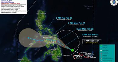Typhoon Auring now Intensifies as Signal No. 1