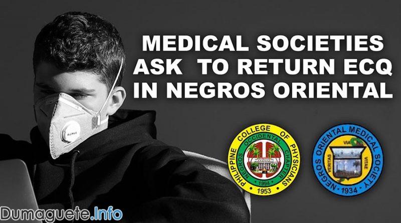 2 Medical Societies Ask to Return ECQ in Negros Oriental