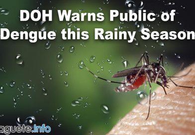 Provincial DOH Warns Public of Dengue this Rainy Season