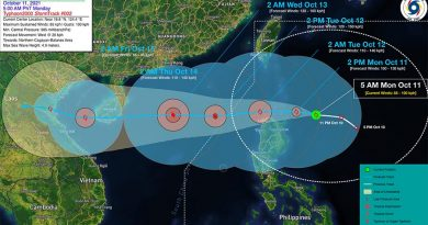 Tropical Depression Nando & Storm Maring Merges
